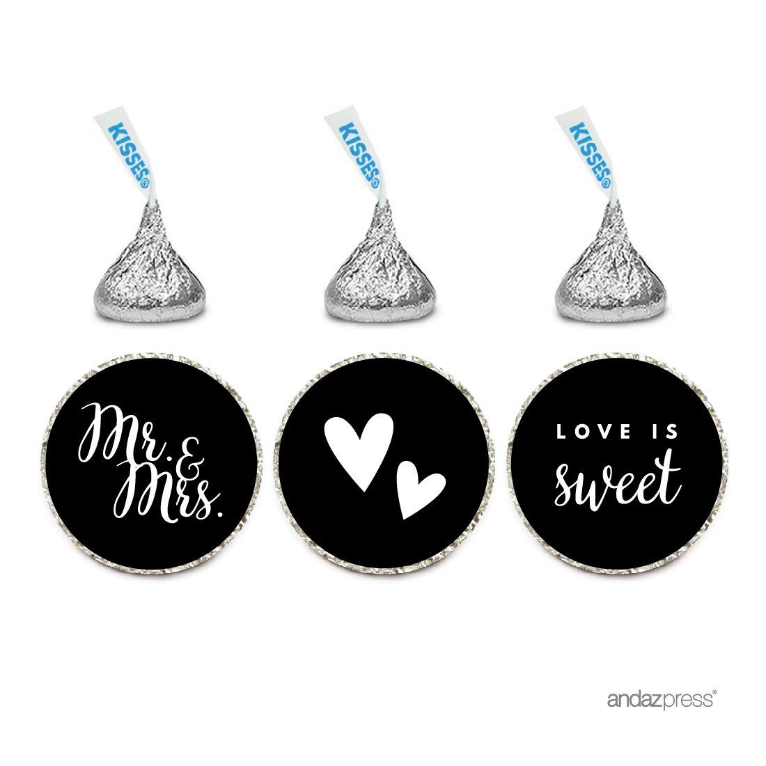 Amazon.com: Andaz Press Chocolate Drop Labels Stickers, Wedding Hugs ...
