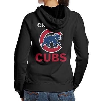 Las mujeres chcago Cubs Sudaderas con capucha Sudaderas Cool diseño de sudadera con capucha, algodón, negro, Medium: Amazon.es: Hogar