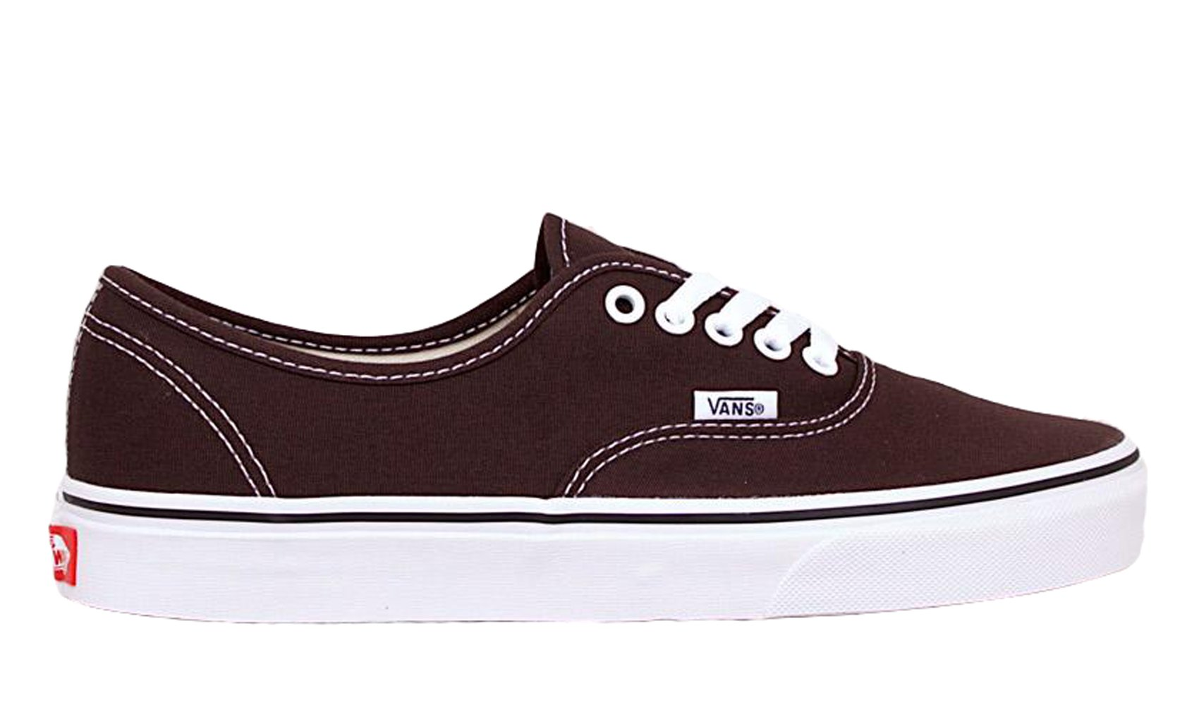 20a43a586d5ab2 Galleon - Vans Authentic Chocolate Torte True White Sneaker 10 Mens