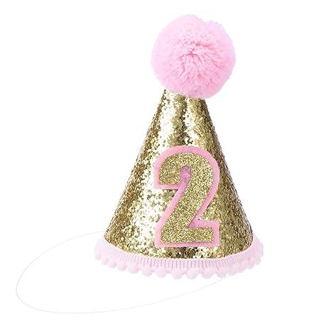 NUOBESTY Diademas de tiara para niños con cono de cumpleaños ...