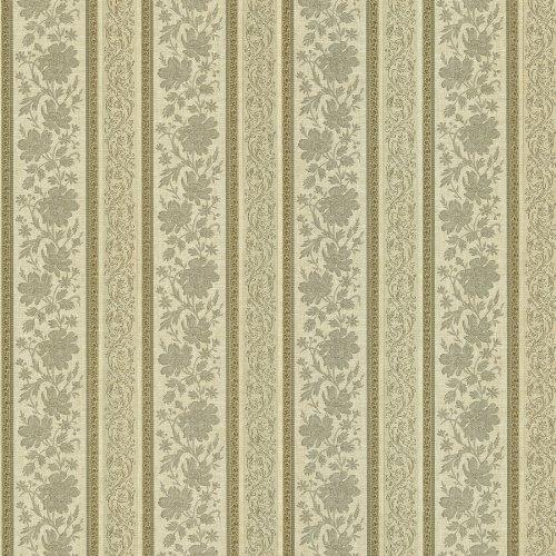 Mirage 987-56575 Lissandra Floral Stripe Wallpaper, Sage