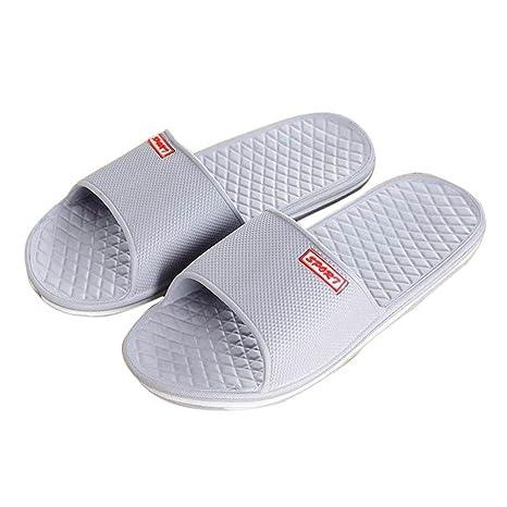 ZARLLE Zapatos De Playa Y Piscina para Hombre, Hombres Solid Flat Bath Zapatillas Sandalias De
