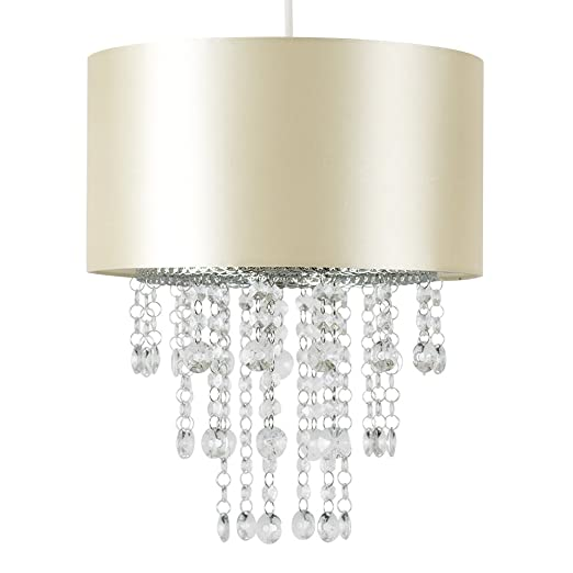 Modern Champagne Cylinder Ceiling Pendant Light Shade with Clear ...