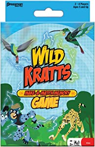 Pressman Wild Kratts Make A Match in Box Game Multi-colored, 5