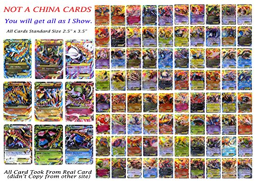 EX Mega Pack of 9 Mega– Charizard Rayquaza Mewtwo Primal Groudon Blastoise Venusaur…with 80 EX All Flashy Cards English with Box and Sleeve. by EX Mega Pack