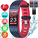 Fitness Tracker Heart Rate Blood Pressure Sleep Monitor IP67 Waterproof Activity GPS Tracker with Caller ID Smartwatch for Women Men Kids 0.96'' Colorful Screen Bracelet Pedometer for iPhone Android