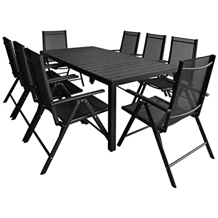 Pleasing Amazon Com Outdoor Patio Dining Set 8 Textilene Chairs And Gmtry Best Dining Table And Chair Ideas Images Gmtryco