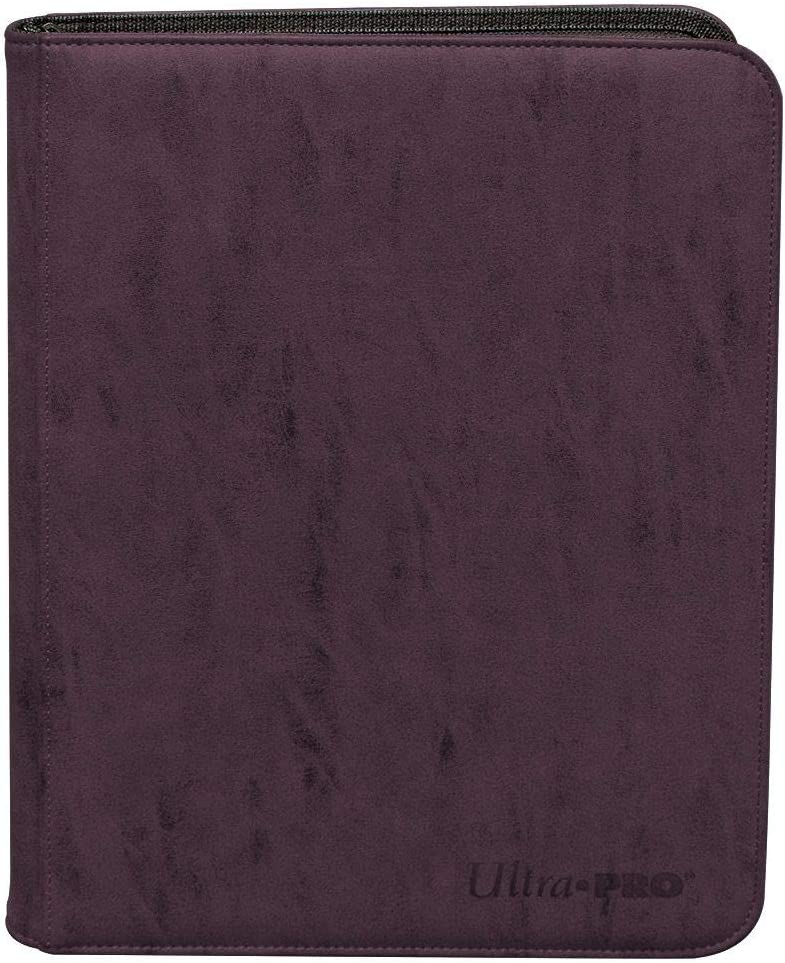 Amethyst Suede Collection Zippered 9-Pocket Premium PRO-Binder