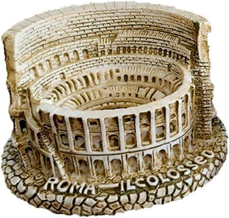 Paquete incluye: 1 x Modelo Figura de Coliseo Roma de Resina para Decoración de Escritorio,Material: