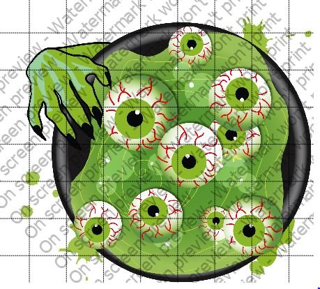 Witch Brew OF Eyeballs Halloween Edible Cake Topper -