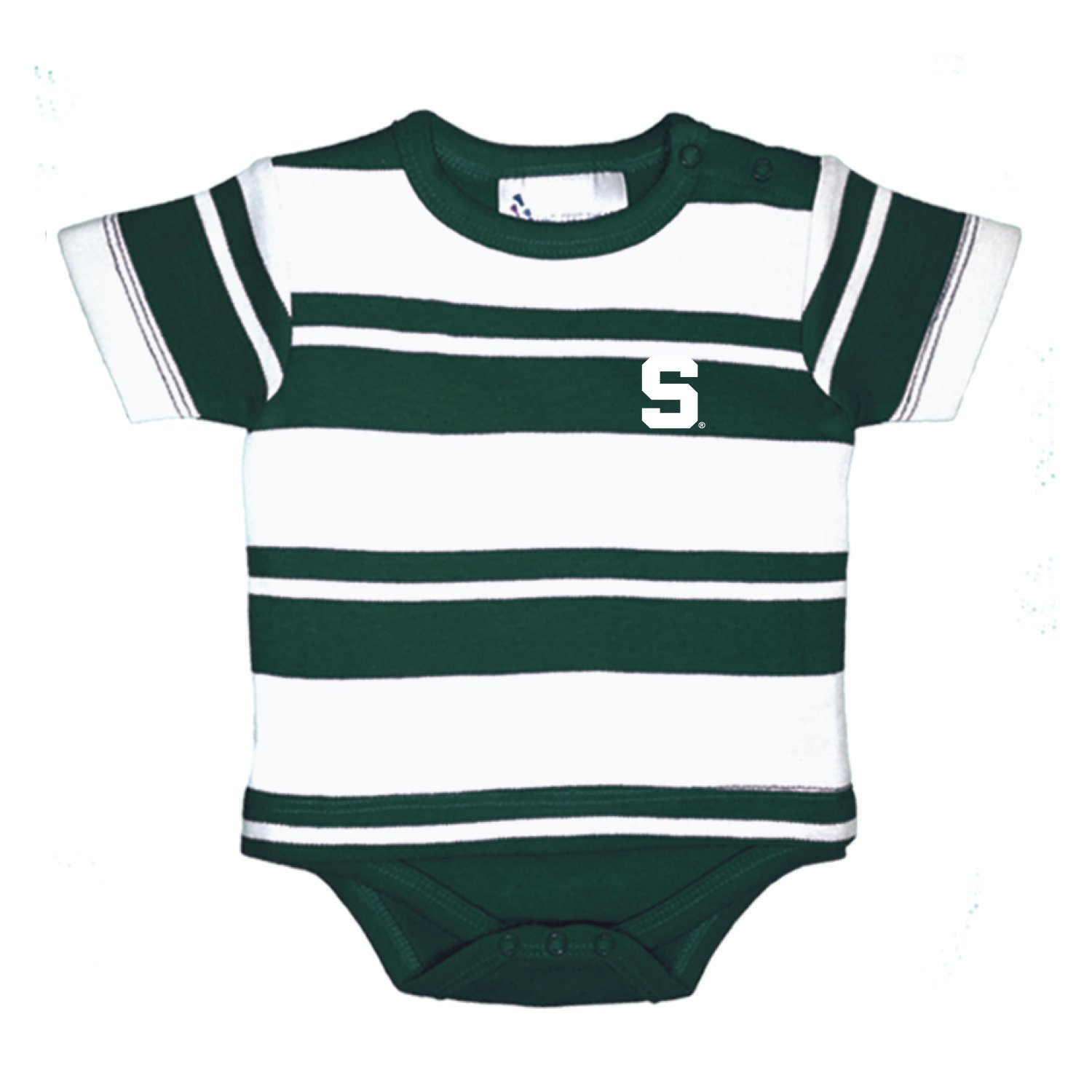 6 Months Michigan State Spartans NCAA Newborn Baby Rugby T-Shirt Creeper