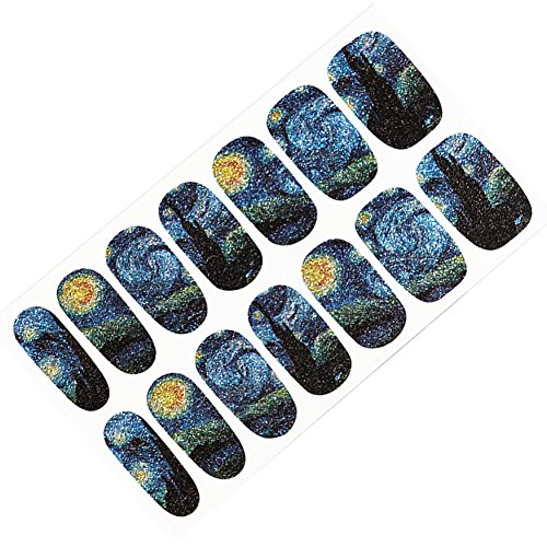 lightclub 14Pcs Nail Sticker Starry Sky Art Decal Manicure Accessory Women Beauty Tool 1