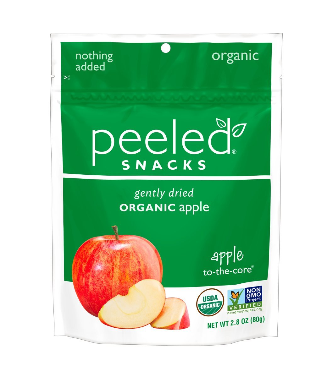 Peeled Snacks Organic Dried Fruit Apple To The Core 28 Ounce Applesc Stem Cell 25 Gram 30 Sachets Steam Grocery Gourmet Food