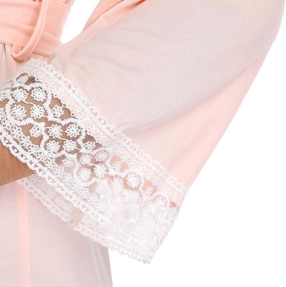 Anyfitting Maternity Nursing Robe Delivery Nightgowns Hospital Breastfeeding Gown Soft Comfy Kimono Bathrobes