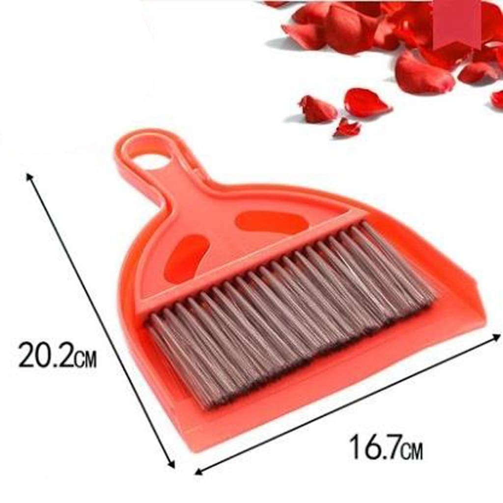 Lsxlsd Mini Whisk Broom And Dustpan Set,Compute Brush Keyboard Desktop Cleaning Small Broom,Great For Cleaning Compact Spaces - Cars, Offices, Bathrooms, Kitchen Counters, Drawers, And More! (red) by Lsxlsd (Image #1)