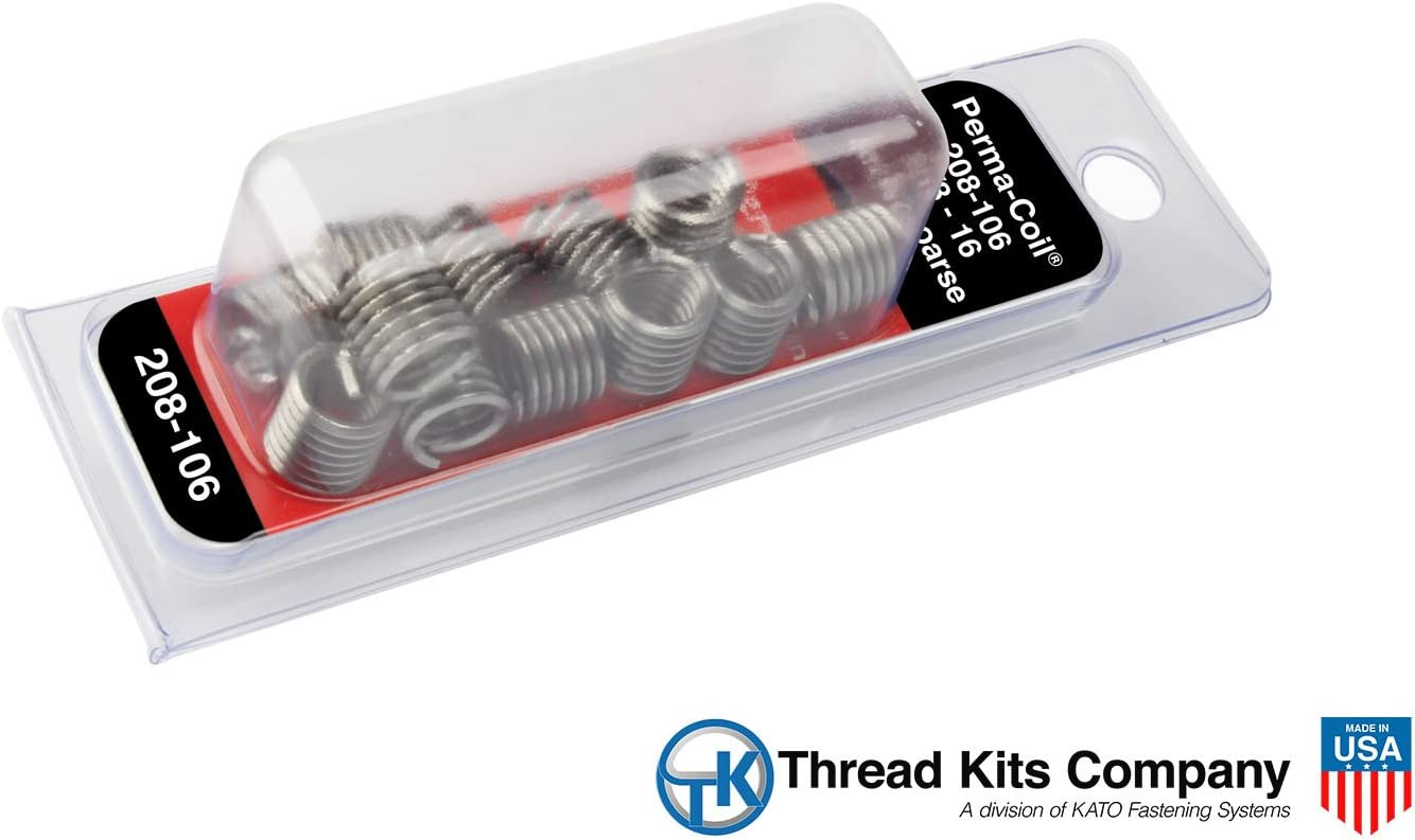 Perma-Coil 208-106 Thread Insert Pack 3//8-16 12PC Helicoil 5521-6