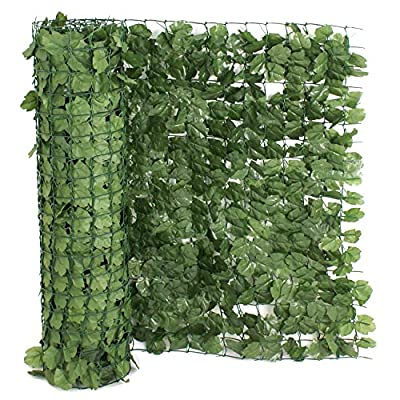 39'' x 94'' Artificial Faux Ivy Leaf Privacy Fence Screen Decoration Panels Windscreen Patio Outdoor Wall Decor