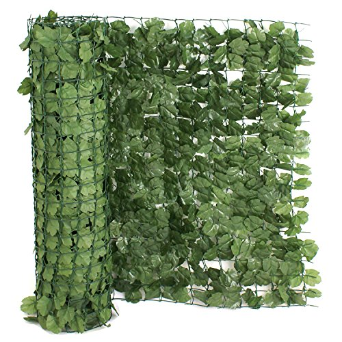 39'' x 94'' Artificial Faux Ivy Leaf Privacy Fence Screen Decoration Panels Windscreen Patio Outdoor Wall Decor by Nova Microdermabrasion