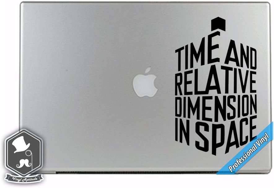Dr Who Inspired Tardis 3D Time and Space Police Phone Box Word Art Vinyl Decal Sticker for Apple MacBook Dell HP Alienware Asus Acer or Any Laptop Notebook PC Computer