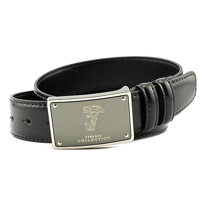 Amazon.com: Versace Collection Cinturón de piel para hombre ...