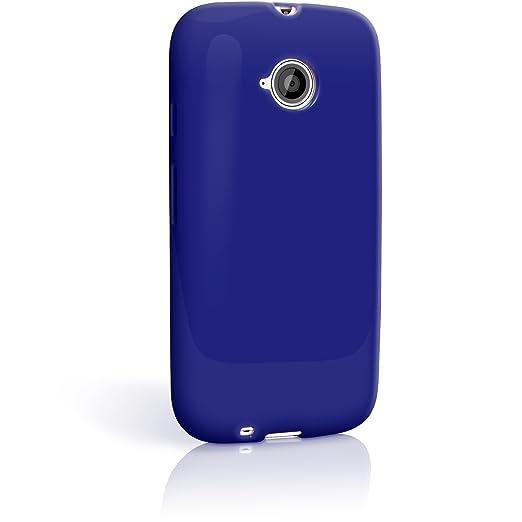 104 opinioni per igadgitz Solido Blu Lucido Protettiva Custodia Gel TPU per Motorola Moto E 2 °