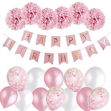 Decoraciones Cumpleaños Ninas, Feliz Cumpleanos Guirnalda+ ...