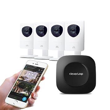 Kit de VideoVigilancia CleverLoop con 4 cámaras IP WIFI, Respaldo en la Nube, Detección de Movimiento y Alertas Móviles: Amazon.es: Bricolaje y herramientas