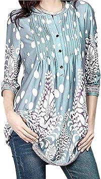 WZCV Tops de verano para mujeres, camiseta suelta con mangas ...