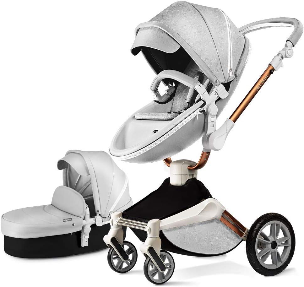 Baby Stroller 360 Rotation Function,Hot Mom Pushchair Pram 2019,Grey