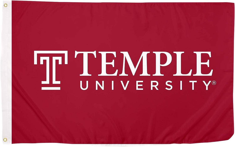 Desert Cactus Temple University Owls NCAA 100% Polyester Indoor Outdoor 3 feet x 5 feet Flag