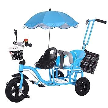 Amazon.com: YUMEIGE niños triciclos niños triciclo Twins ...