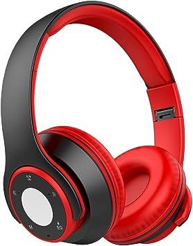 Auriculares Inalámbricos Auriculares Bluetooth de Diadema con Función 4 en 1, Cascos Inálambricos Deportivos con Duración Larga de Reproducción para iOS y Android: Amazon.es: Electrónica