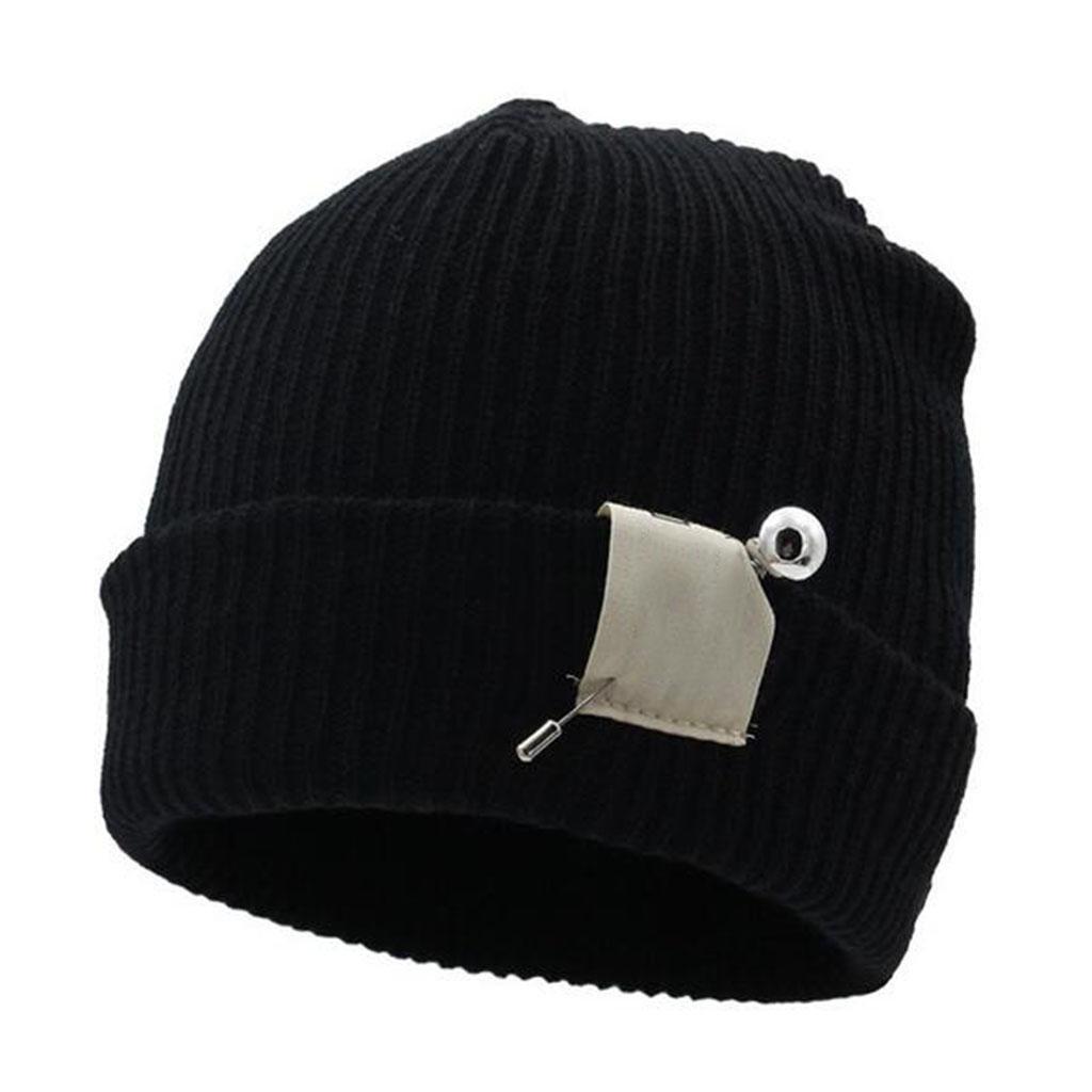 Modelos femeninos Sombrero tejido personalidad Anillo invierno Mantener caliente Moda Tapa de línea ...