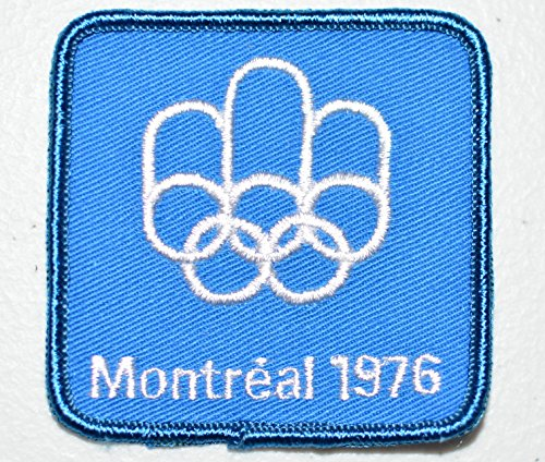 Montreal 1976 Olympic Games (Montreal 1976 Summer Olympic Games Blue Souvenir Crest Sew-on Embroidered Applique)