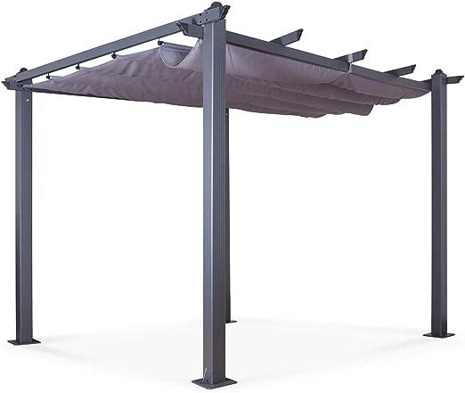 IMS GARDEN Carpa/Pergola Aluminio 3 X 3 M Lienzo Deslizante ...