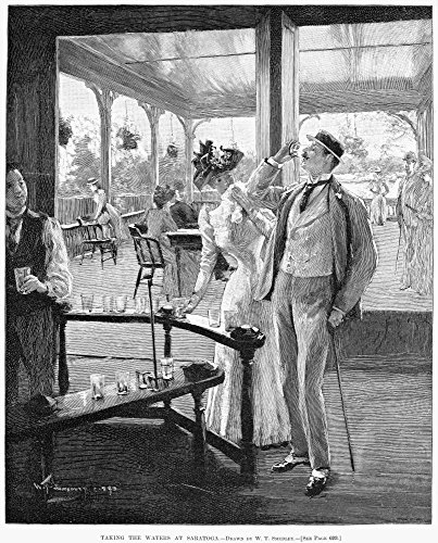 (Spas Saratoga 1890 Ntaking The Waters At Saratoga Springs New York Wood Engraving After A Drawing By William Thomas Smedley 1890 Poster Print by (18 x 24))