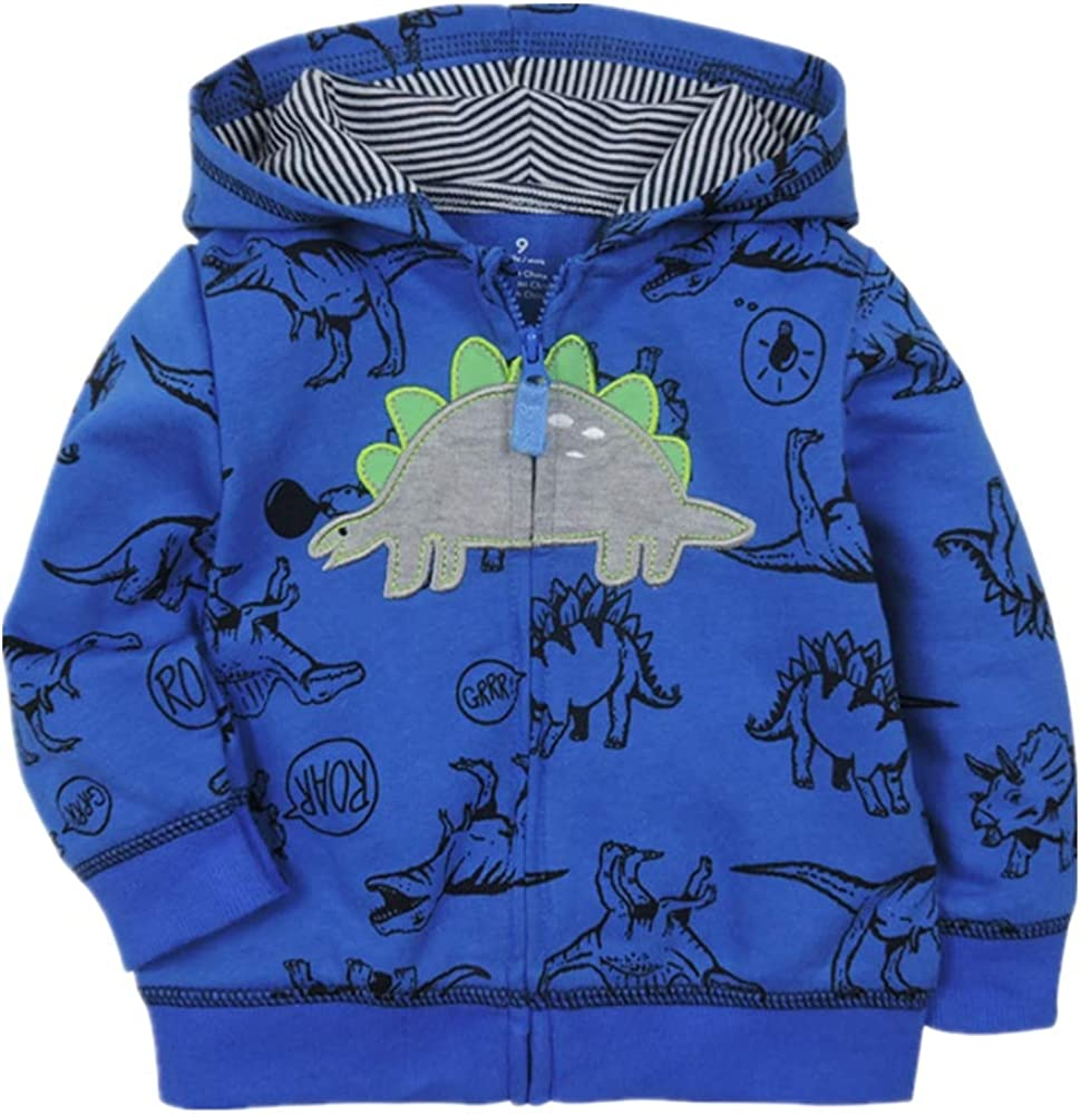 Toddler Boys Dinosaur Sweatshirts Cartoon Winter Long Sleeve Kids Sport Outdoor Pullover Tops Tees 2T-8T
