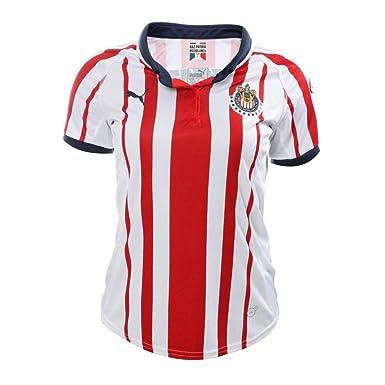 free shipping ff498 e66ae Amazon.com: PUMA 2018-19 Chivas Women's Home Jersey-Red ...