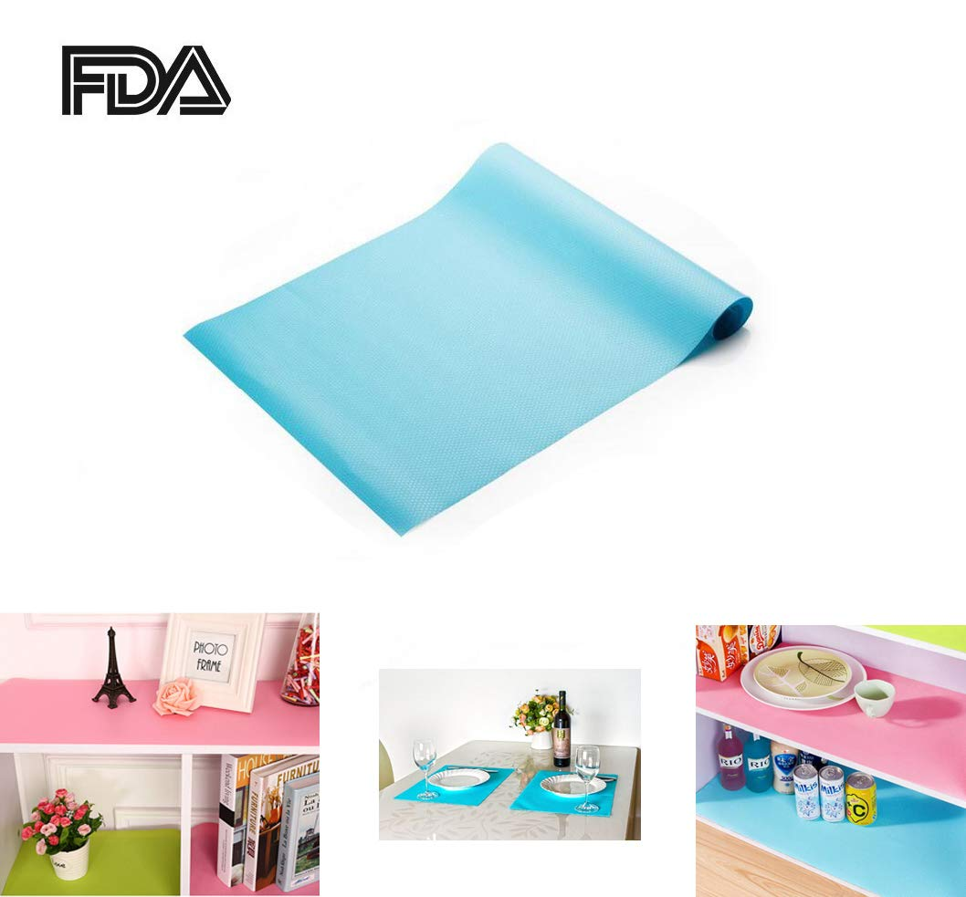 Zinnor [2 PACK] EVA Cabinet Drawer Liner,Non-Adhesive Refrigerator Pad Cupboard | Refrigerator Freezer Mat Waterproof Pad for Kitchen Cabinets,Drawer,Refrigerator Lining (60