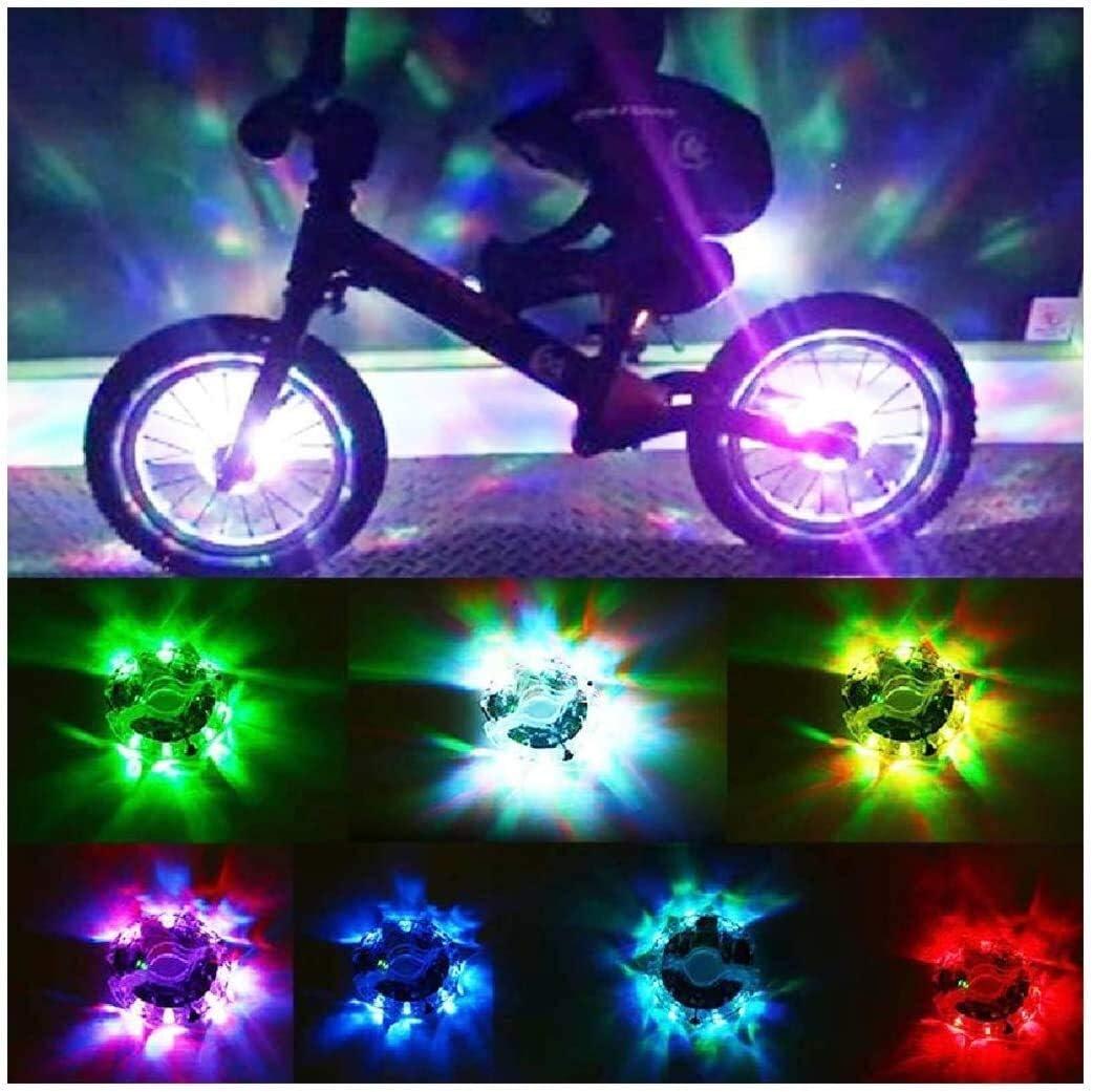 LLSZ Montar a los niños de flores equilibrio del coche tambor bicicleta luz caliente ruedas de carga USB luces de advertencia de diapositivas coche de la noche a caballo, tamaño: un tamaño, color: Sie
