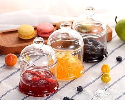 ZXMTLP GRJH® Caja De Sazonar Cajas De Sal De Vidrio Combinación De Especias Jar Cuarto