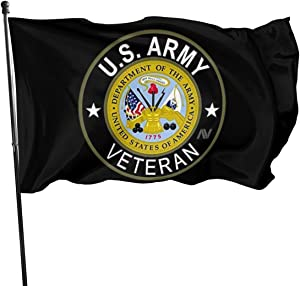 EVISUK U.S. Army Veteran 3x5ft Flag Uv Resistant and Colorfast All-Weather Nylon Polyester.