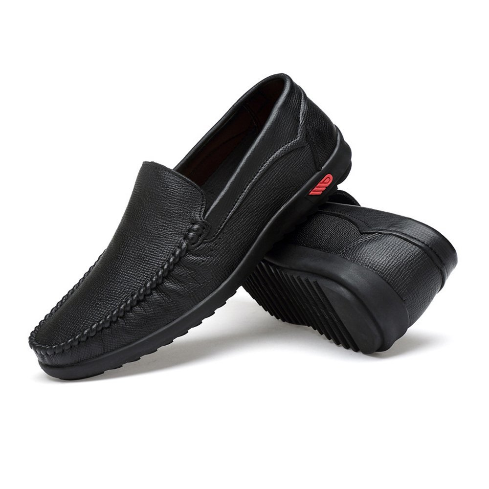Shufang-shoes, Zapatos Mocasines para Hombre 2018 Conducción de los Hombres Penny Loafers Bare Vamp Casual Barco Low-Top Soft Rubber Sole Mocasines (Color : Negro, tamaño : 41 EU) 41 EU|Negro