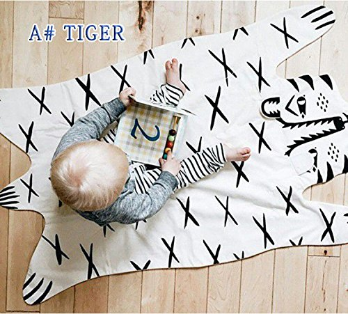 Tiger Blanket Animal Carpet Play Mats Autumn Winter Car Children Floor Kids Crawling Rugs Baby Game Pad For Games Puzzle Soft Toy by Floor Games