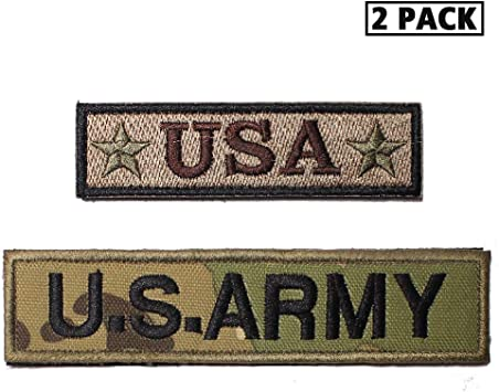 """1 1//4/"""" United States American Flag Morale Tab Patch VELCRO® BRAND Hook Fastener"""