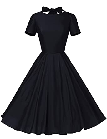 GownTown Womens 1950s Vintage Retro Party Swing Rockabillty Stretchy Dress