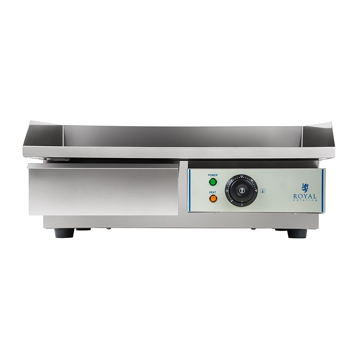 Royal Catering Plancha Grill Electrica Fry Top Parrilla Electrica Industrial RCEG-55 (3.000 W, Largo 55 cm, Superficie de calentamiento lisa, ...