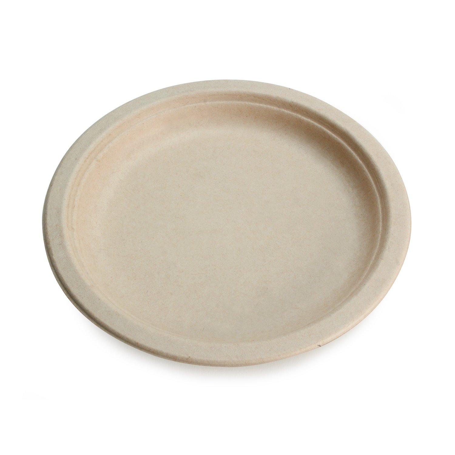 Earth's Natural Alternative Wheat Straw Fiber, Bagasse (Sugarcane) Tree Free 10'' Round Plate, 500/Case