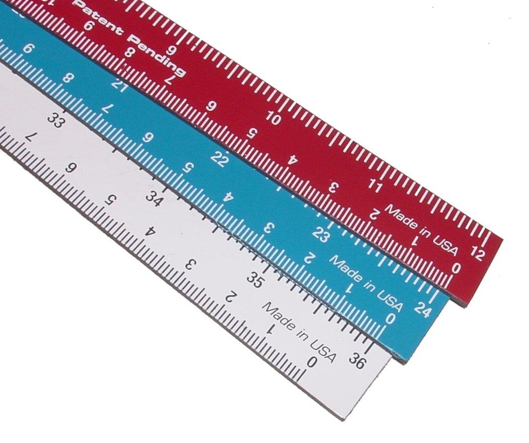 Motor Guard MR-3 Magna Rule Flexible Magnetic Ruler (Assorted 3-Pack)