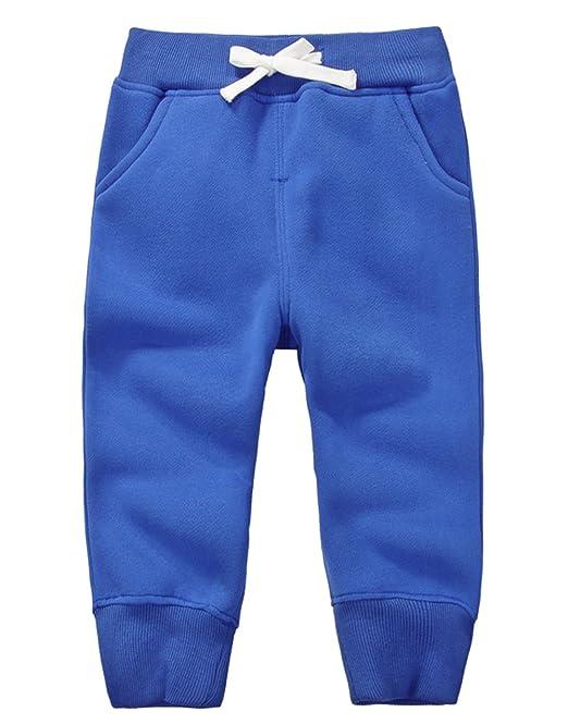 56b319b35288 DELEY Unisex Baby Kids Winter Pants Cotton Fleece Sweatpants Boys Girls  Trousers Tracksuit Bottoms 1-4 Years  Amazon.co.uk  Clothing